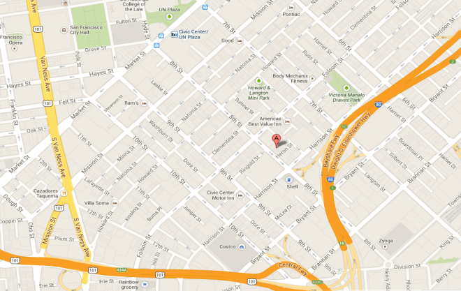 Map to SFMI's offices.